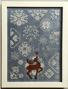 AuryTM - Let it Snow-AuryTM - Let it Snow, quaker, Rudolph, reindeer, Christmas, Needlework Expo, cross stitch