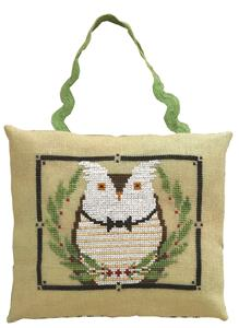Artful Offerings - Mr. Owl's Wintergreen Gala-Artful Offerings - Mr. Owls Wintergreen Gala, owl, ornament, winter, cross stitch