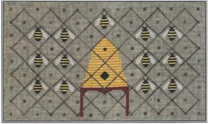 Artful Offerings - Honey Bee Reverie-Artful Offerings - Honey Bee Reverie, bee hive, bees, honey, cross stitch, bee keeping,