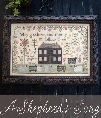 Plum Street Samplers - A Shepherd's Song-Plum Street Samplers - A Shepherds Song, 2020 Nashville, sheep, Psalm 23, King David, cross stitch