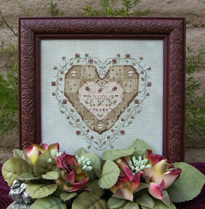 Designs by Lisa - Always  Patchwork Heart-Designs by Lisa, Always, Patchwork Heart, cross stitch pattern, love,