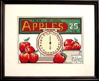 Bobbie G. Designs - Apples 25 cents a lb - Cross Stitch Chart-Bobbie G Designs - Apples 25 cents a lb - Cross Stitch Chart