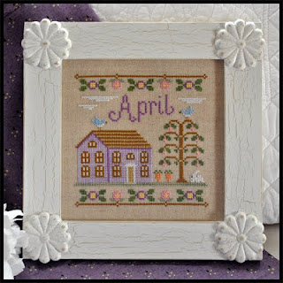 Country Cottage Needleworks - Cottage of the Month 04 - April Cottage - Cross Stitch Pattern