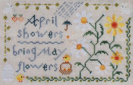 Cottage Garden Samplings - My Garden Journal - Part 04 of 12 - April's Daisy - Cross Stitch Pattern