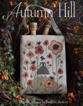 Plum Street Samplers - Autumn Hill-Plum Street Samplers - Autumn Hill, fall, pumpkins, crows, flowers, cross stitch
