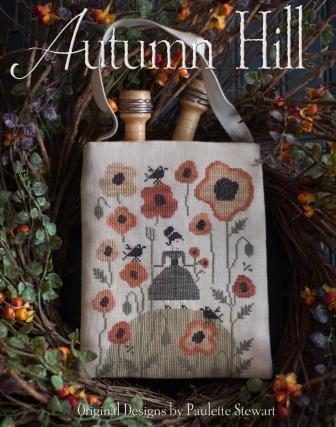 Plum Street Samplers - Autumn Hill-Plum Street Samplers - Autumn Hill, fall, pumpkins, crows, flowers, cross stitch