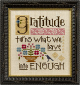 Lizzie Kate - Inspirational Boxer - Gratitude Turns What We Have into Enough-Lizzie Kate - Inspirational Boxer - Gratitude Turns What We Have into Enough, grateful, faith, God, prayers, Thanksgiving, cross stitch,