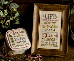 Lizzie Kate - Inspiration Boxer - Life is Better Kit-Lizzie Kate - Inspiration Boxer - Life is Better Kit, with stitching friends,