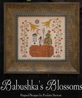 Plum Street Samplers - Babushka's Blossoms-Plum Street Samplers - Babushkas Blossoms, Halloween,