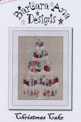 Barbara Ana Designs - Christmas Cake-Barbara Ana Designs - Christmas Cake, 3 tier, decorating, ornaments, Christmas town, cross stitch