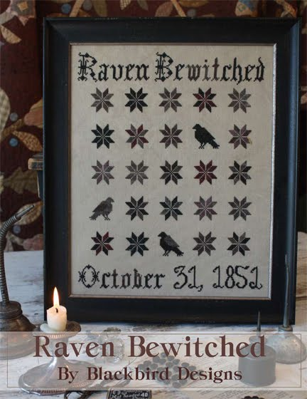 Blackbird Designs - Raven Bewitched - Cross Stitch Pattern-Blackbird Designs - Raven Bewitched - Cross Stitch Pattern