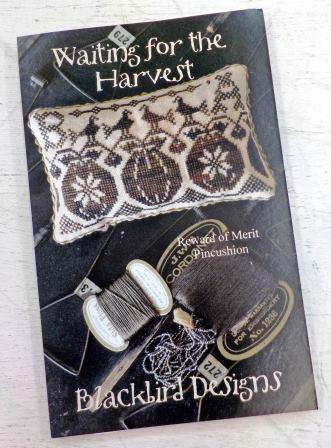 Blackbird Designs - Reward of Merit - Waiting for the Harvest-Blackbird Designs - Reward of Merit - Waiting for the Harvest, pumpkins, crows, fall, cross stitch