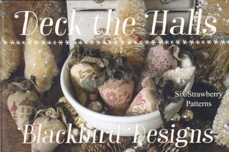 Blackbird Designs - Deck the Halls-Blackbird Designs - Deck the Halls, Christmas, strawberries, pin cushions, ORNAMENTS, cross stitch
