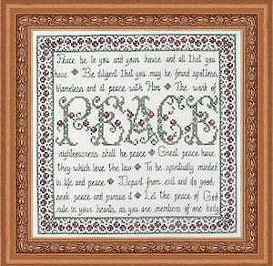 My Big Toe Designs - Building Blocks - Peace  -My Big Toe Designs - Building Blocks - Peace - Cross Stitch Pattern