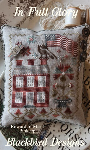 Blackbird Designs - In Full Glory - Cross Stitch Pattern-Blackbird Designs, In Full Glory, patriotic, 4th of July, american, primitive designs, country, USA,  Cross Stitch Pattern