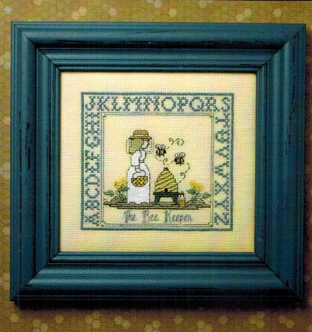 The Bee Cottage - The Bee Keeper Kit-The Bee Cottage - The Bee Keeper Kit, sampler, beehive, keeper of bees, cross stitch