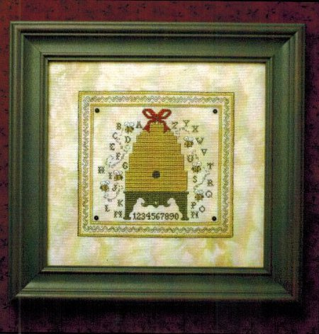 The Bee Cottage - Alphabet Bee Skep Kit-The Bee Cottage - Alphabet Bee Skep, bee hive, Sampler, cross stitch,