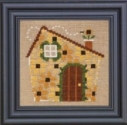 Bent Creek - House of Flowers Kit-Bent Creek - House of Flowers Kit, house, daisies, flowers, bee, cross stitch
