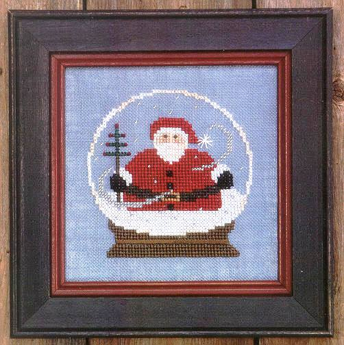 Bent Creek - Santa Globe Kit-Bent Creek - Santa Globe Kit, Santa Claus, snow, Christmas, cross stitch,