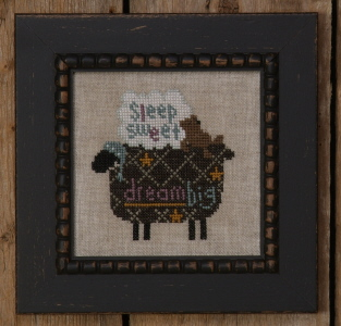 Bent Creek - The Black Sheep Kit-Bent Creek - The Black Sheep Kit, sleeping, counting sheep, slumber, cross stitch