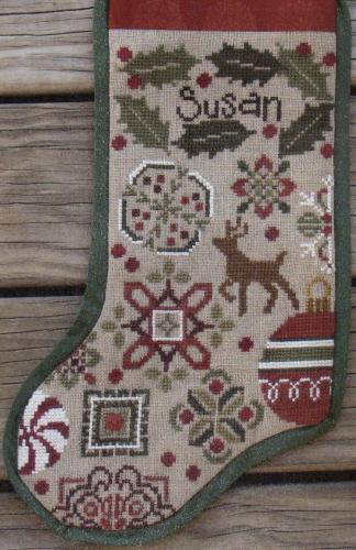 Bent Creek - Holly Quaker Stocking