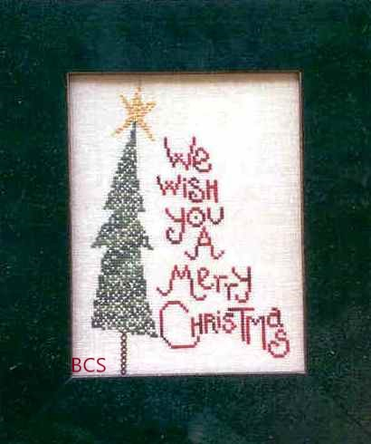 Bent Creek - Merry Christmas-Bent Creek - Merry Christmas, Christmas tree, star, wish, cross stitch