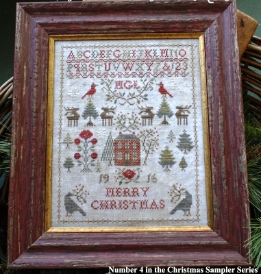 Blackbird Designs - Christmas Rose-Blackbird Designs - Christmas Rose, sampler, Christmas, cardinals, deer, home, winter, cross stitch