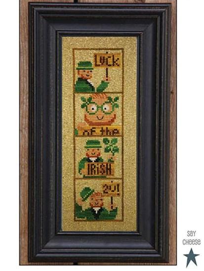 Bent Creek - Photobooth - Irish Luck 2U Chart Pack-Bent Creek - Photobooth - Irish Luck 2U Chart Pack, good luck, 4 leaf clover, shamrock, leprechaun, cross stitch,