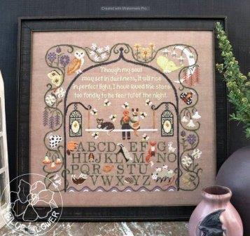 The Blue Flower - Moonlight Sampler-The Blue Flower - Moonlight Sampler, sleep, faith, dreams, prayers, cross stitch, 2021 FALL EXPO RELEASE,
