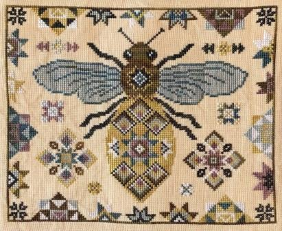 The Blue Flower - Quilting Bee-The Blue Flower - Quilting Bee, BEES, QUAKER, QUILTS, CROSS STITCH, HONEY
