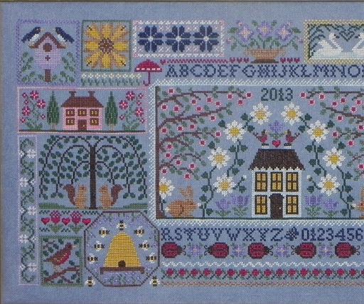 Blue Ribbon Designs - Blue Jeans and Daisies - Mystery Sampler Club - Part 2 of 3-Blue Ribbon Designs, Blue Jeans and Daisies Mystery Sampler Club, Part 2 of 3, Cross Stitch Pattern,