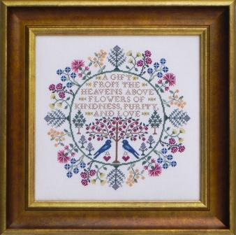 Blue Ribbon Designs - Botanical Blessings - Cross Stitch Patterns-Blue Ribbon Designs, Botanical Blessings, sampler, blue birds, flowers, Cross Stitch Patterns