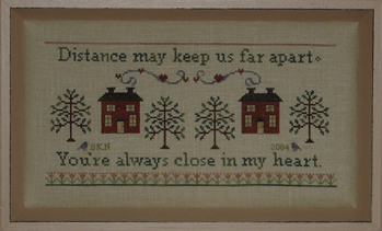 Blue Ribbon Designs - Close At Heart - Cross Stitch Pattern
