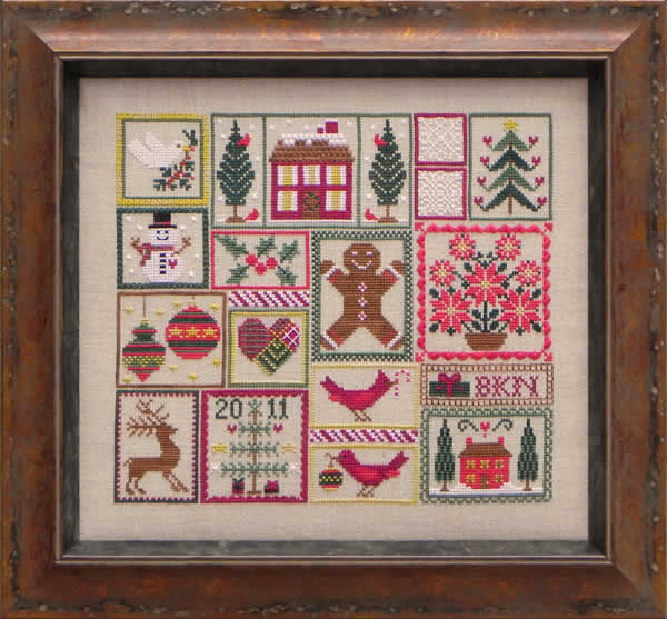 Blue Ribbon Designs - Pocketful of Peppermint - Cross Stitch Pattern