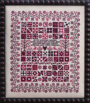 Blue Ribbon Designs - Redwork Garden - Cross Stitch Patterns-Blue Ribbon Designs - Redwork Garden - Cross Stitch Patterns
