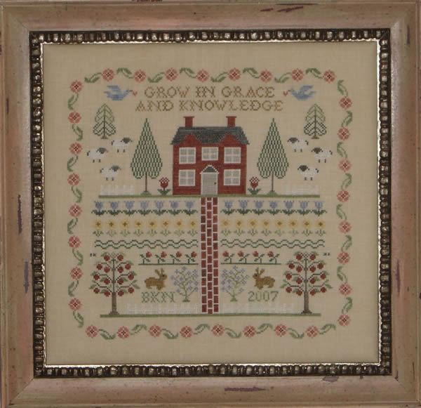 Blue Ribbon Designs - A Sampler For Neine And Frump - Cross Stitch Pattern