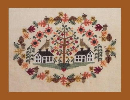 Blue Ribbon Designs - Shaker Valley Harvest - Cross Stitch Patterns-Blue Ribbon Designs, Shaker Valley Harvest, fall, owls, scissor fob, basket, needlebook,Cross Stitch Patterns
