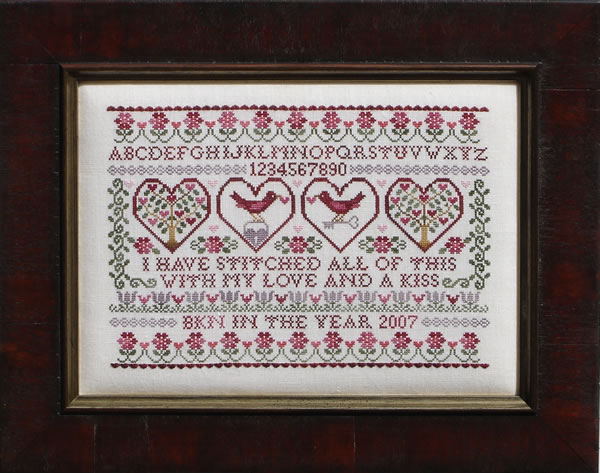 Blue Ribbon Designs - Stitched with Love - Cross Stitch Pattern-Blue Ribbon Designs Stitched with Love Cross Stitch Pattern