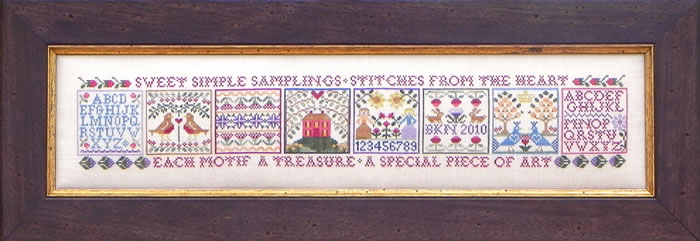 Blue Ribbon Designs - Sweet Simple Samplings - Cross Stitch Pattern