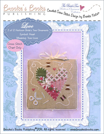 Brooke's Books - The Brides Tree Heirloom Ornament Collection 002 of 12  LOVE - Cross Stitch Pattern