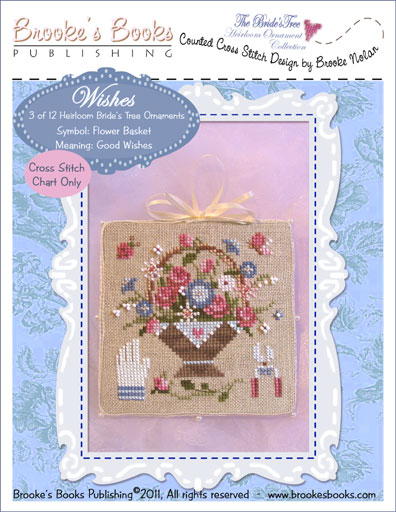 Brooke's Books - The Brides Tree Heirloom Ornament Collection 003 of 12 - WISHES - Cross Stitch Pattern
