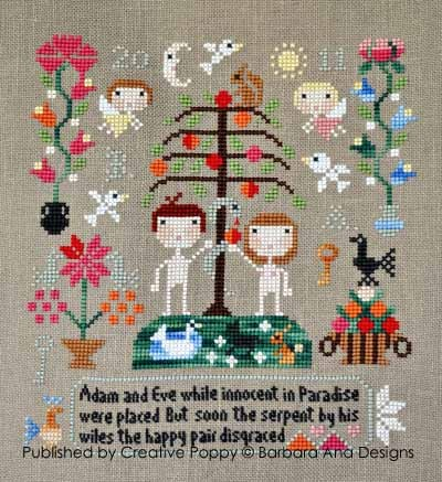 Barbara Ana Designs - Adam & Eve-Barbara Ana Designs - Adam  Eve - Cross Stitch Chart