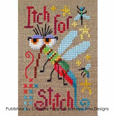 Barbara Ana Designs - A Stitcher's Itch-Barbara Ana Designs - A Stitchers Itch - Cross Stitch Chart