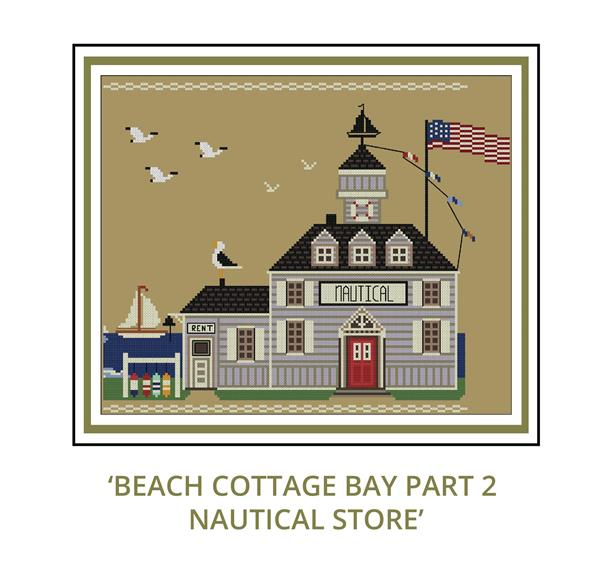 Beach Cottage Needleworks - Beach Cottage Bay Mystery Series - Part 2 Nautical Store-Beach Cottage Needleworks - Beach Cottage Bay Mystery Series - Part 2 Nautical Store