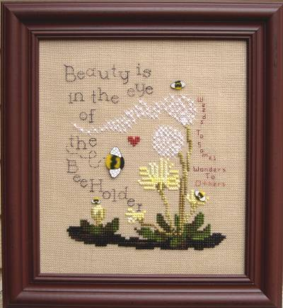 Designs by Lisa - Beauty is in the Eye of the Beeholder - Cross Stitch Pattern-Designs by Lisa,- Beauty is in the Eye of the Beeholder   Cross Stitch Pattern