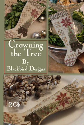 Blackbird Designs - Crowning the Tree - Cross Stitch Pattern-Blackbird Designs - Crowning the Tree - Cross Stitch Pattern
