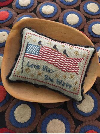 Chessie & Me - Long May She Wave Kit-Chessie  Me - Long May She Wave Kit, American flag, USA, patriotic, eagle, United States, cross stitch