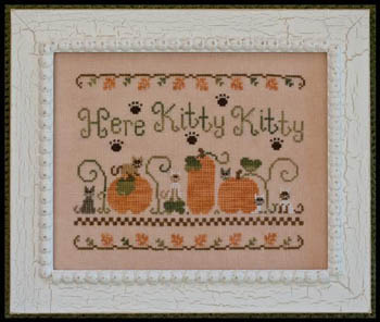Country Cottage Needleworks - Here Kitty Kitty - Cross Stitch Pattern