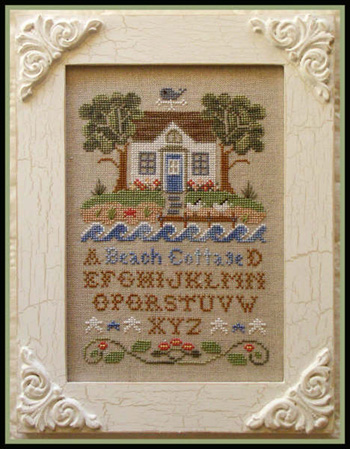 Country Cottage Needleworks - Beach Cottage - Cross Stitch Pattern-Country Cottage Needleworks - Beach Cottage - Cross Stitch Pattern