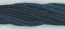 Classic Colorworks - Blacksmith Blue -Crescent Colours, Blacksmith Blue, #187, Hand Dyed Floss, cross stitch, needlework threads,